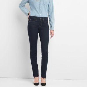 "GAP ""real straight"" dark jeans"